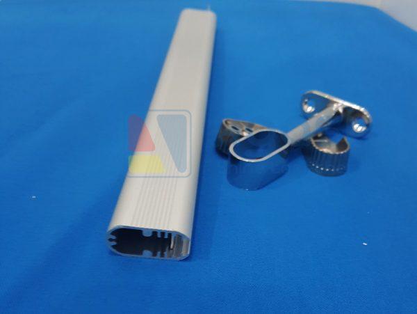 thanh nhôm profile chuyên được sử dụng để làm cây treo máng áo và chiếu sáng tủ áo