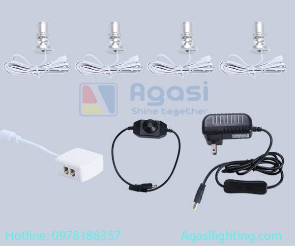 Đèn led sportlight mini chuyên sử dụng để trang trí và chiếu sáng các hệ tủ