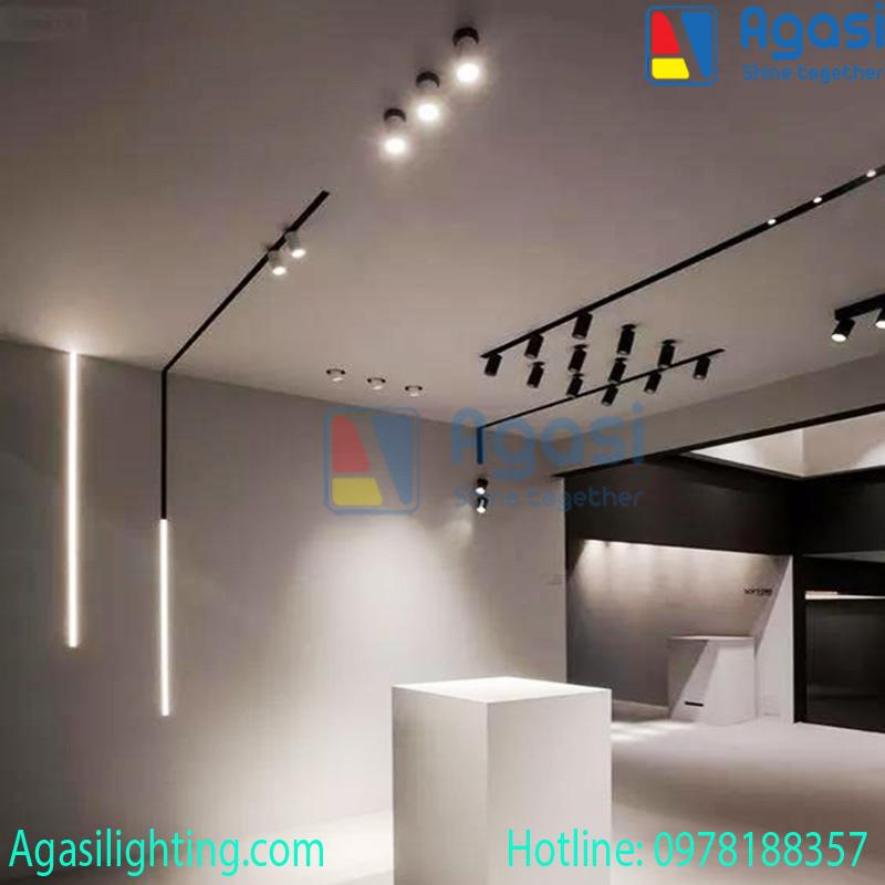 Đèn ray rọi nam châm phù hợp với mọi không gian nội thất.