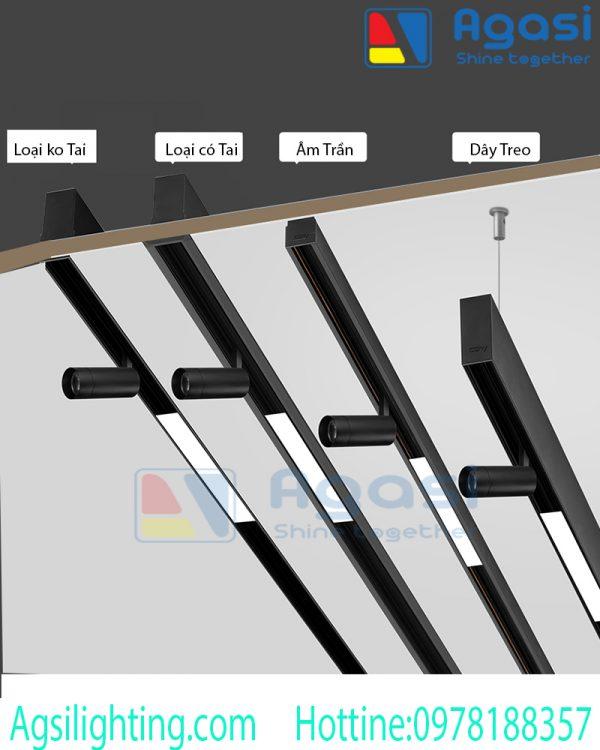 Thanh ray nam châm để tạo hình cho hệ đèn nam châm